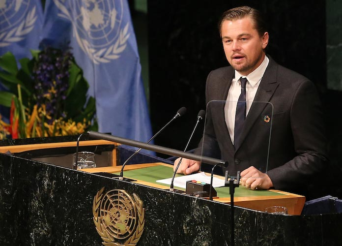 Image result for leonardo dicaprio paris agreement