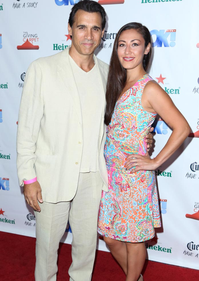 Adrian Paul and wife Alexandra Tonelli
