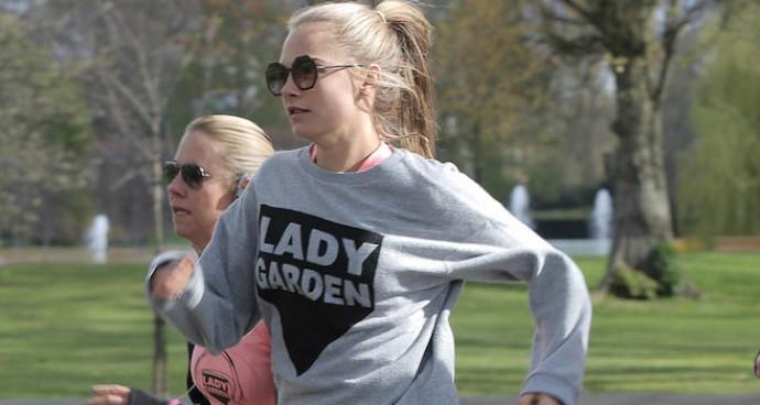 Cara Delevingne Participates In Lady Garden 5K Run For Cancer Fund