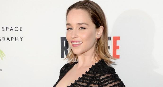 Emilia Clarke Sports Sheer Look To 'REFUGEE' Exhibit Opening