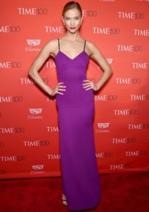 Karlie Kloss Stood Out In Plum At 'Time' 100 Gala