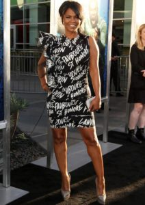 Nia Long Rocks Graffiti Print Dress To 'Keanu' Premiere