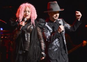 Boy George Performs With Cyndi Lauper In NYC