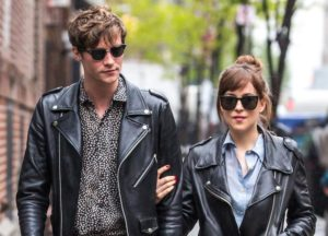 Dakota Johnson Matched Boyfriend Matthew Hitt In Leather Jacket On NYC Stroll