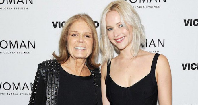 Jennifer Lawrence Joins Gloria Steinem At Premiere Of Viceland Series 'Woman'