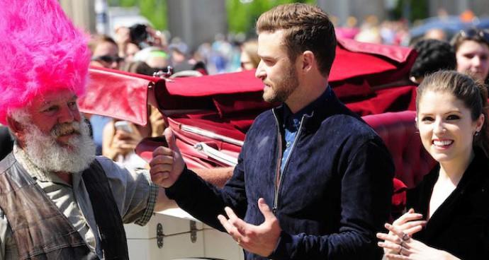 Justin Timberlake And Anna Kendrick Promote 'Trolls' In Berlin