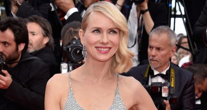 Naomi Watts Shimmers Is Crystal-Encrusted Gown At Cannes 'Money Monster' Premiere