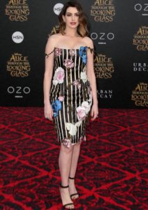 Anne Hathaway Wears Christopher Kane To 'Alice Through The Looking Glass' Premiere