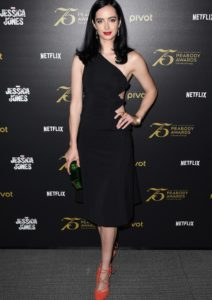 Krysten Ritter Dons Chic Black Dress For 'Jessica Jones' Panel