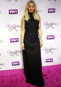 Rita Ora Wears Vera Wang To 'Dear Mama' Taping