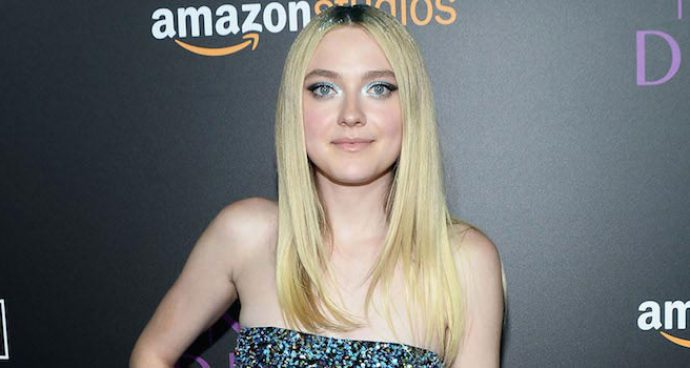 Dakota Fanning Goes For Glittery Look At 'The Neon Demon' Premiere