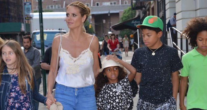 Heidi Klum Heads Out In NYC With Her Four Kids