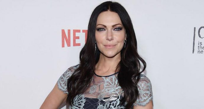 Laura Prepon Goes With Navy Nha Khanh Number For 'Orange Is The New Black' Premiere