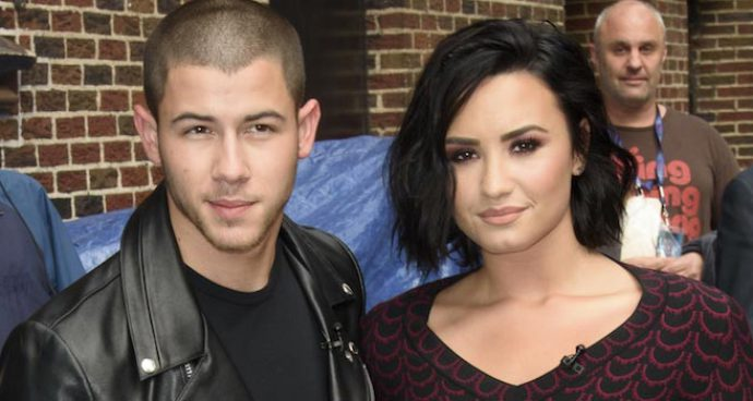Nick Jonas And Demi Lovato Promote 'Future Now' Tour On Stephen Colbert