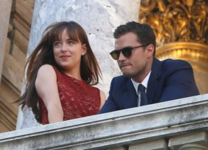 Dakota Johnson And Jamie Dornan Film 'Fifty Shades Darker' In Paris