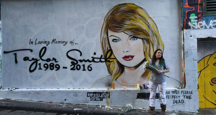 'RIP Taylor Swift' Mural Painted In Australia, Vandalized