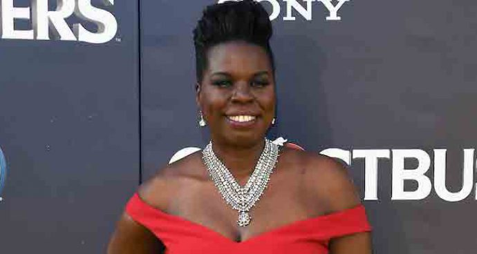 Leslie Jones Stuns In Christian Siriano Gown At 'Ghostbusters' Premiere