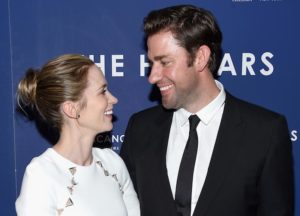 Emily Blunt And John Krasinski Share A Laugh At 'Hollars' Premiere