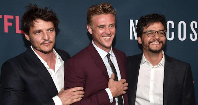 Pedro Pascal, Boyd Holbrook & Wagner Moura Strike A Pose At 'Narcos' Season 2 Premiere