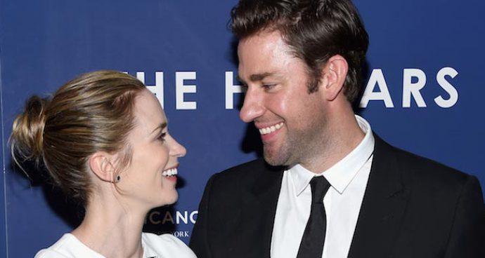 Emily Blunt And John Krasinski Share A Laugh At 'Hollars' Premiere