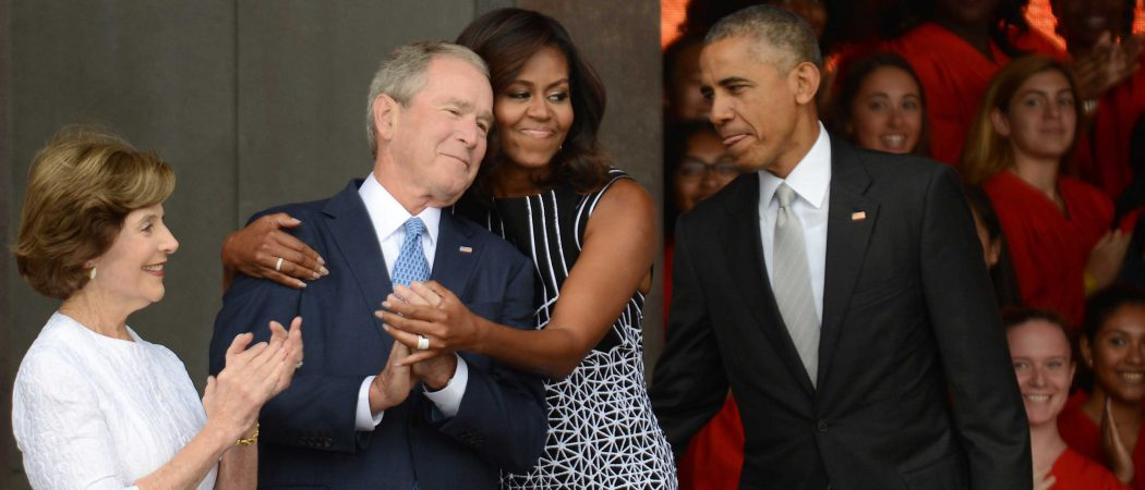 Michelle Obama Hugs George W. Bush At Opening Of African American History Museum