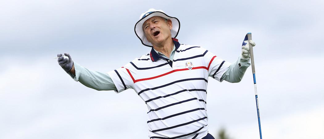 Bill Murray Gets Animated While Golfing At The Ryder Cup