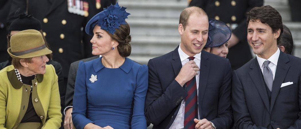 Kate Middleton And Prince William Sit Beside Justin Trudeau At Their Royal Tour Welcome Ceremony