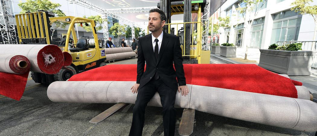 Jimmy Kimmel Rolls Out The Emmy Red Carpet At The Microsoft Theater