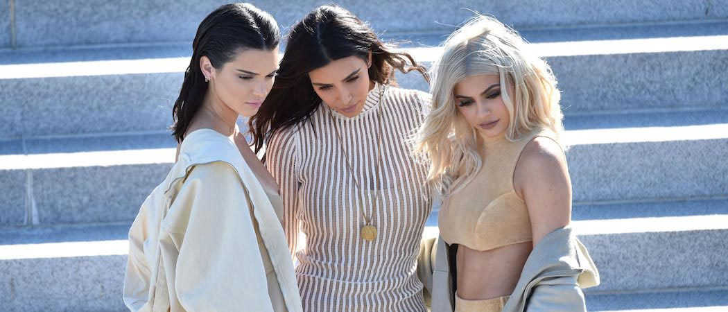 Kim, Kendall & Kylie Attend Kanye West's New York Fashion Week Show
