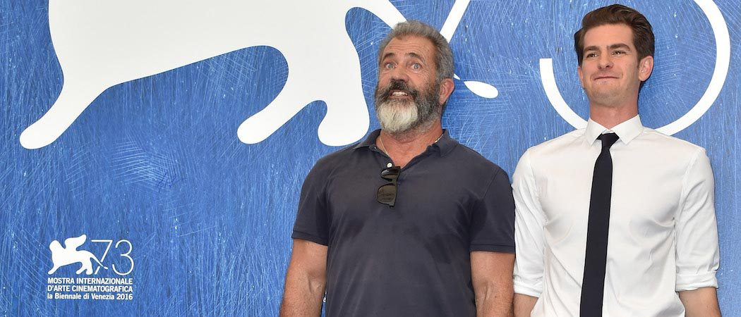 Mel Gibson & Andrew Garfield Attend 'Hacksaw Ridge' Photocall In Venice