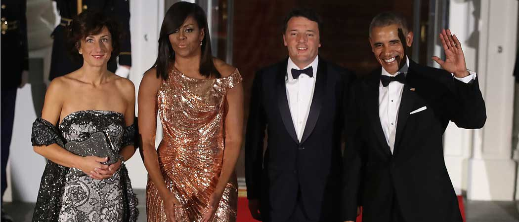 Michelle Obama Rocks Versace Dress, Sends Powerful Message At Last State Dinner