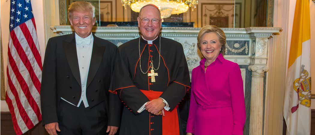 Cardinal Dolan Brings Donald Tump & Hillary Clinton Togther For Alfred E. Smith Dinner