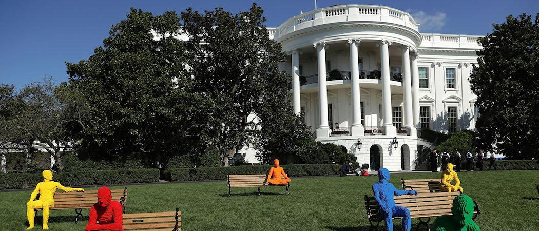 President Obama's South by South Lawn Features Nathan Sawaya 'The Park People' Art Piece