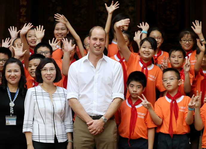 Prince William Arrives In Vietnam For First Time To Attend Wildlife Conference