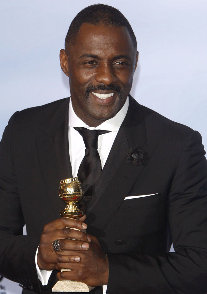 Idris Elba at The 69th Annual Golden Globe Awards