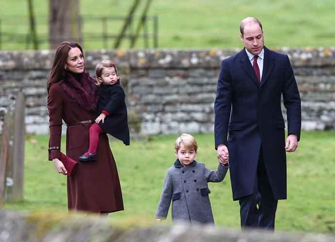 Prince William & Kate Middleton Take Children To Church In Bucklebury