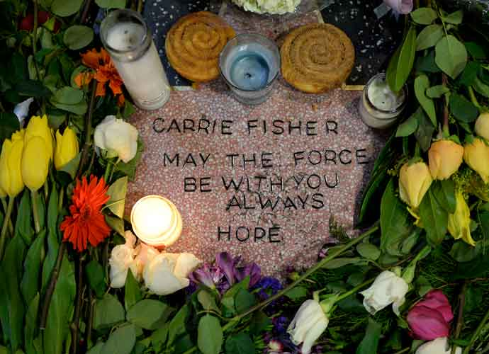 Fans Honor Carrie Fisher With Makeshift Star On Hollywood Walk Of Fame