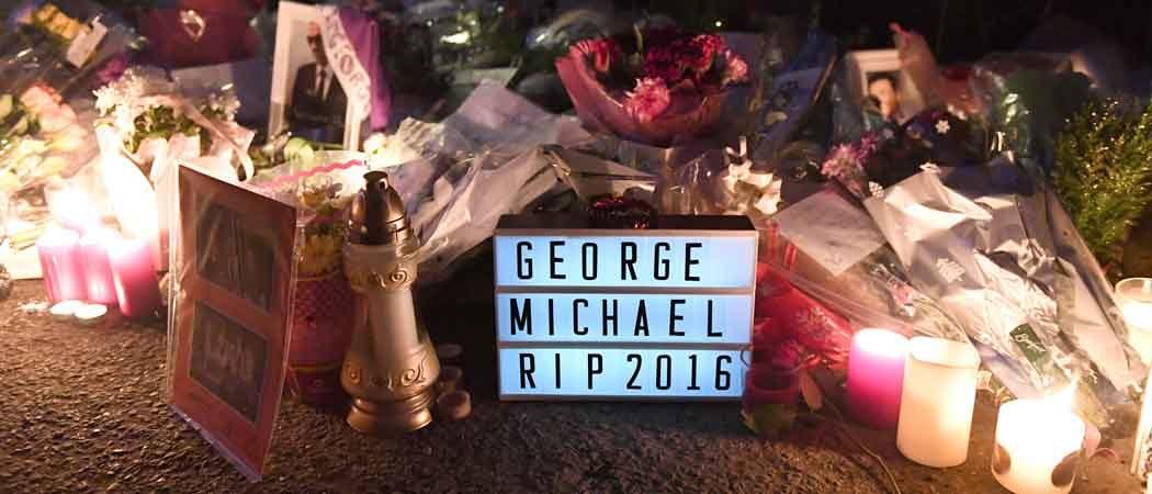 Fans Leave Flowers & Tributes On George Michael's Door