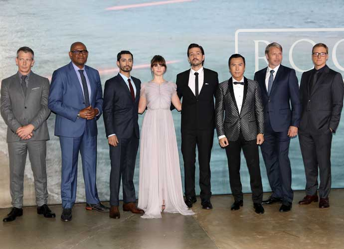 Felicity Jones, Diego Luna & Rest Of 'Rogue One' Cast Attend London Premiere