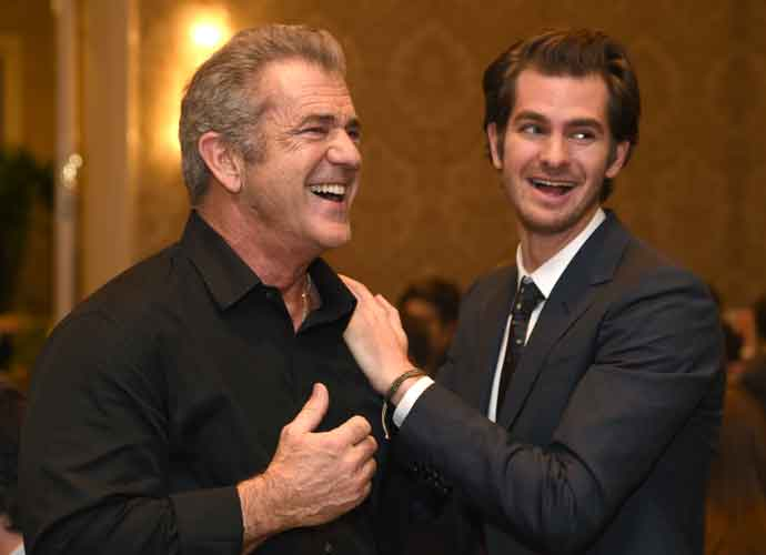 Mel Gibson & Andrew Garfield Share A Moment At The AFI Awards