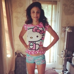 Bethenny Frankel Poses In Her 4-Year-Old Daughter's Hello Kitty PJs