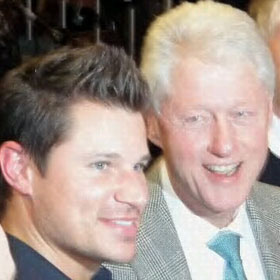 Nick Lachey And Bill Clinton Cheer On The Big East