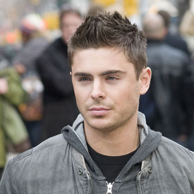 Zac Efron On Set Of  New Zac Efron Hair New Years Eve