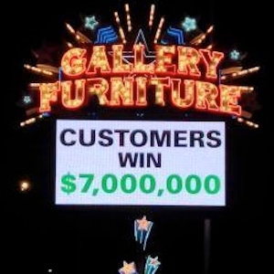 Houston Furniture Store Loses $7 Million Super Bowl Bet With Customers