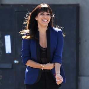 Eva Longoria Rocks Bangs On 'Vision'™ Set
