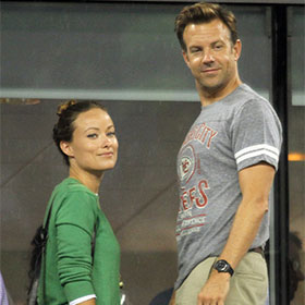 Olivia Wilde And Jason Sudeikis Watch Serena Williams In First Round Of US Open