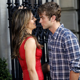 Liz Hurley Cozies Up To Chace Crawford