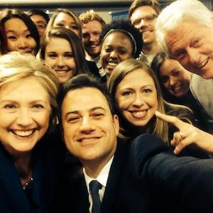 Clinton Family Takes Selfie With Jimmy Kimmel