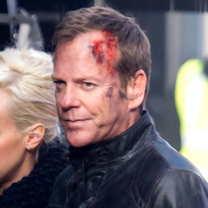 Kiefer Sutherland Films '24: Live Another Day' In London With Mary Lynn Rajskub