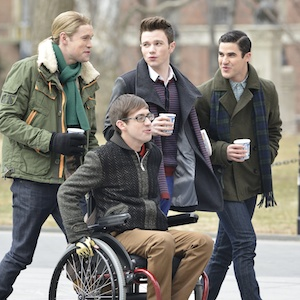 'Glee' Stars Chris Colfer, Darren Criss, Chord Overstreet And Kevin McHale Sing In Washington Square Park